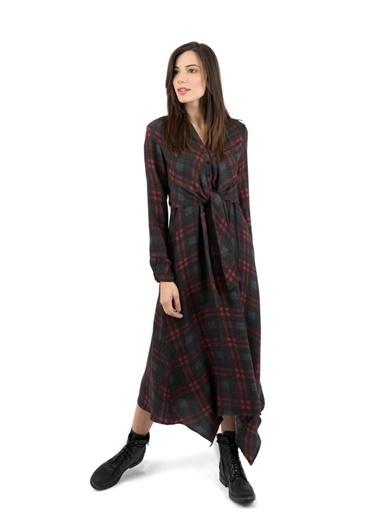 Just like you Kamuflaj Desen Midi Elbise Renkli